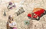 HONGYAUNZHANG Mädchen Auto Landschaft Benutzerdefinierte Fototapete 3D Stereoskopischen Wand...