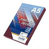 100 Einbanddeckel DIN A5 Premium 240, Lederstruktur, Rückenkarton