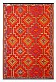 Fab Hab - Lhasa - Orange & Violett - Teppich/ Matte für den Innen- und Außenbereich (120 cm x 180...