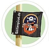 Gartenpirat-Flagge mit Hisssystem Kinder-Fahne zum Hissen von Gartenpirat®