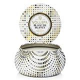 Voluspa Maison Holiday 11oz 2 Wick Metallo Candle in Tin Blanc de Blanc