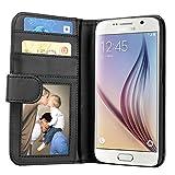 Samsung Galaxy S6 Hülle, EnGive Ledertasche Schutzhülle Case Tasche mit Standfunktion und Karte...