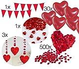 XXL Dekoration Valentinstag Deko für Ihn und Sie mit Luftballon Herz, Herzballon, romantische...