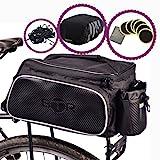 BTR Fahrradtasche mit wasserfester und reflektierender Schutzhülle & Gepäcksicherung. Für...