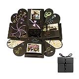 True-Ying DIY Fotoalbum Überraschung Handscrapbook Faltalbum für Jahrestag Geburtstag Valentinstag...