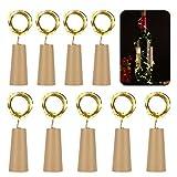9 x 20 LED Flaschen-Licht Kupferdraht Cork Form der LED Nacht Licht Weinflasche Hochzeit Party...