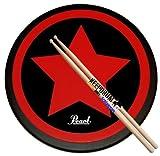 Pearl PDR-08SP Practice Drum Pad Übungspad 8' + Keepdrum 5A Drumsticks