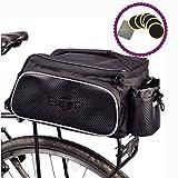 BTR Fahrradtasche für den Gepäckträger. Wasserabweisend. Schwarz. 10 Liter Fassungsvermögen....