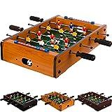Maxstore Mini Kicker Helles Holzdekor Tischfußball Maße: 51x31x8 cm Gewicht: 2,6 kg, 4...
