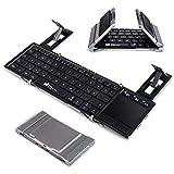 Faltbare Bluetooth Tastatur, EC Technology Portable Faltbare Wireless Keyboard mit Multi Touchpad,...