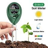 FYLINA 3-in-1 Bodentester, Boden ph messgerät für Pflanzen, Licht und pH / Säure, Gartengeräte...