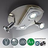 LED Deckenleuchte Schwenkbar Inkl. 4 x 3W Leuchtmittel 230V GU10 IP20 Led Strahler LED Deckenlampe...