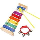 Lictin Holz-Xylophon Hölzernes Xylophon Holz Glockenspiel-Set Perfekt Glockenspiel Holz Geschenke...