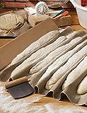Scandibake Bakers Couche - 120 x 70cm – Bäckerleinen 100% natürliche für Baguettes und Brot....
