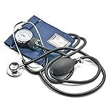 Belmalia Blutdruckmessgerät mit Stethoskop, Pumpball, Manometer, Manschette, Tasche für...