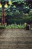 Computer ausgedruckt Fotografie Hintergrund, 98,4 IN (W) * 59 (H) Garten-Baum 1.5 * 2m