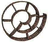 KMH®, CD Wandregal 'Schnecke' aus handgeflochtener Wasserhyazinthe - Farbe: braun (#204077)