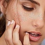 Face Tattoo Face Sticker Metallic Shiny Temporary Tattoo für Glitzer Effekt, Parties, Shows und...