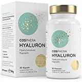 Hyaluronsäure Kapseln - Hochdosiert mit 350 mg pro Kapsel. 90 vegane Kapseln im 3 Monatsvorrat -...