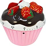 COM-FOUR® Kurzzeitwecker im hübschen Cupcake Design, bis 60 Minuten, Eieruhr, Timer aus Kunststoff...