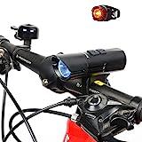 LED Fahrradbeleuchtung, BYBO Cree XM-L U3 LED 800 Lumen Fahrradlicht LED Wiederaufladbares...