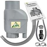Amur Fallrohrfilter Regensammler T33 braun/grau - Der Regenwasser-Filter für Regentonnen mit bis zu...