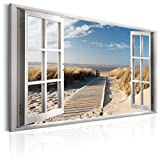 murando - Bilder Fensterblick 120x80 cm Vlies Leinwandbild 1 TLG Kunstdruck modern Wandbilder XXL...