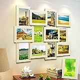 MVPOWER Bilderrahmen Collage für 12 Fotos 10x15 cm + 1x Einzelfotorahmen 13x18 cm, 13er Frame Set...