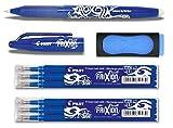 1 Frixion Ball blau + 6er-Set Mine + Radierer