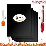 Grillmatte PATHONOR BBQ Grillmatte FDA-Zertifizierung 5 Stück Antihaft Grillmatten zum Grillen und...