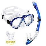 WEINAS Premium Schnorchelset Taucherbrille mit Schnorchel (gopro stand) 100% wasserdichte...