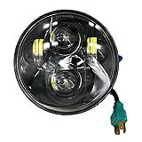 Wisamic Scheinwerfer 5-3/4' 5.75' Rund CREE LED Projektion Daymaker Scheinwerfer für Harley...