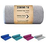 Zoegate Mikrofaser Yoga Handtuch - Wet Grip - Antirutsch Yogatuch mit hoher Bodenhaftung - 184 cm x...