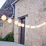 20er Lampion LED Lichterkette warmweiß koppelbar Innen Außen Lights4fun