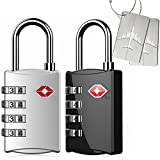 Kyerivs 2 Stück TSA Reiseschloss/Gepäckschloss 4 Nummern Kombination Code Sicherheit...