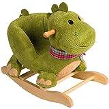 Stimo24 Schaukeltier / Baby Kind Schaukel (mit Sicherheitsgurt und Kippschutz) (Dino)