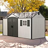 Lifetime Kunststoffgerätehaus, Gartenhaus Texas inkl. Fenster, 381x239 cm, Kunststoff...