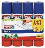tesa Stick Klebestift / Geruchsneutrale Klebestift Großpackung für Pappe & Papier /...