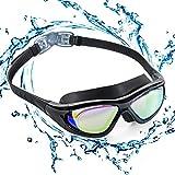 ZetHot Schwimmbrille mit großem Rahmen, Polarisierte Taucherbrillen Wasserdicht Anti-Nebel UV...