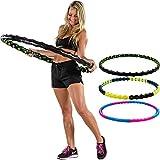 MOVIT® Hip Hoop Hula Hoop Reifen, Massagenoppen und Magnete, 3 Varianten: 0,9 / 1,3 / 1,7 kg, 3...