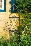 Rankgerüst Rankhilfe aus Metall H: 190cm, Breite: 29cm Rankturm Obelisk