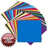 EASY WEED RELEASE Vinyl Selbstklebefolie - 35 BOGEN 30.5cm x 30.5cm - Nicht dehnend - Made in USA...