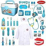 Buyger 32 Teile Arztkoffer Medizinisches Doktor Arztkittel Rollenspiel Spielzeug Geschenke...