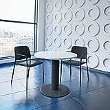 Weber Büro OPTIMA runder Besprechungstisch Ø 80 cm Weiß Anthrazites Gestell Tisch Esstisch