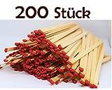 Vorteilspack - 200 Stück - 4 Packungen - Kaminhölzer Streichhölzer 20 cm lang 50 Stück (4...