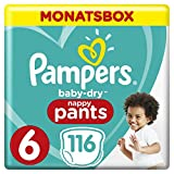 Pampers Baby-Dry Pants, Gr. 6, 15+ kg, Monatsbox, 1er Pack (1 x 116 Stück)