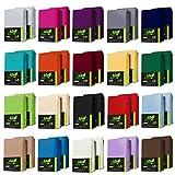 AR Line DOPPELPACK JERSEY Spannbettlaken aus 100% Baumwolle 90 x 200-100 x 200 cm, in Farbe: Weiß