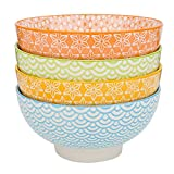 Vancasso Natsuki 4-teilig Porzellan Schalen Set, Ø 15,2 cm Müslischalen, Mehrfarbig,...