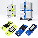 Mture Koffergurt, Gepäckgurt 4 Stück Einstellbare Kofferband Hochwertige Lange Koffergurte zum...