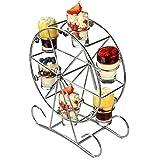 Vorspeisen-Servierset im Riesenrad-Design – drehbarer Schnapsglasständer für Getränke und...